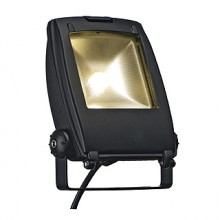 LED FLOOD LIGHT, mat črna, 100°, IP65