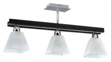 Tana pend lamp, chrome, wenge, E14,3*60W
